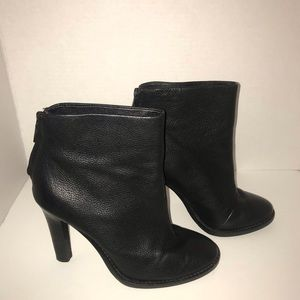 Joie Black Leather Ankle Boots